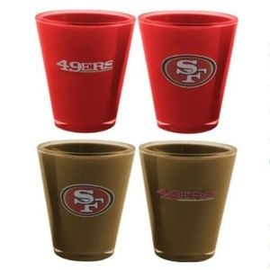 NFL San Francisco 49ers 4x Acrylic Shot Glasses